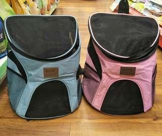 雙肩寵物透氣背包(粉/藍)