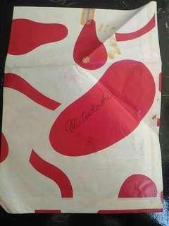 包郵三越百貨 MITSUKOSHI  紙袋 7 x 9.5 吋 198X年 中古紙袋