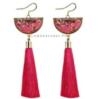 Halfmoon Tassel Earrings
