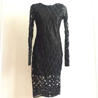 Black Lace Dress (Kurung Tops)