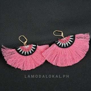 Embroidery Tassel Earrings