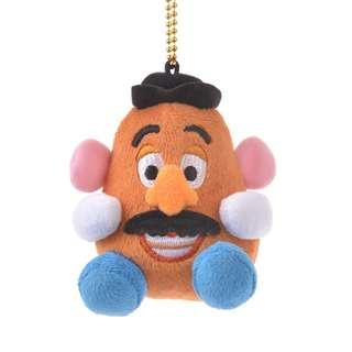 日本 Disney Store 直送 Toy Story 反斗奇兵薯蛋頭先生 Mr. Potato 掩面公仔掛飾匙扣