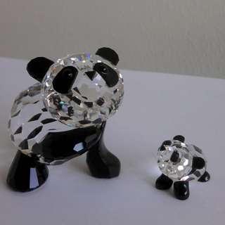 Swarovski Crystal - Panda ( Mother & Child )