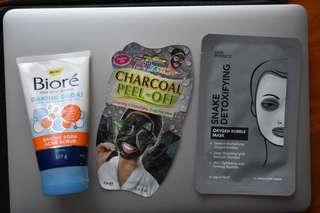 CHARCOAL MASK & BIORE SCRUB SET