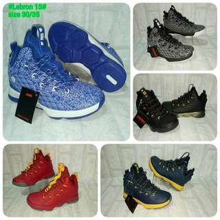 Lebron15 for Kids 💰600  ✅Sizes: 30-35 ✅Made in vietnam ✅w/ box *k