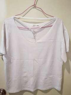 (二手)白色 造型上衣