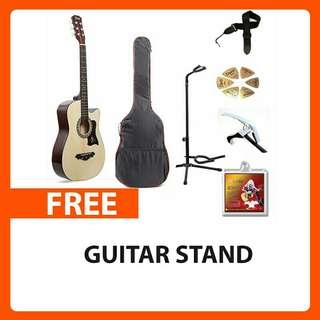 Davides Acoustic Guitar Package with FREE GUITAR STAND