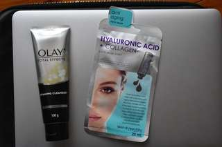 OLAY CLEANSER + ANTI-AGEING MASK