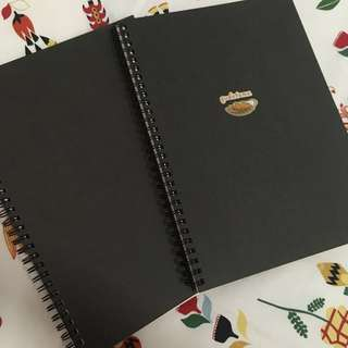 MUJI BLACK UNLINED B5 NOTEBOOKS WITH 80 PGS