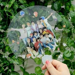 Seventeen Transparent Hand Fans