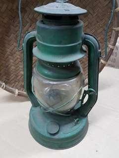 Vintage metal kerosene lamp