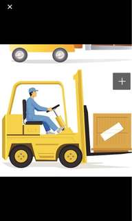 Forklift Provider, Lorry and Warehouse!