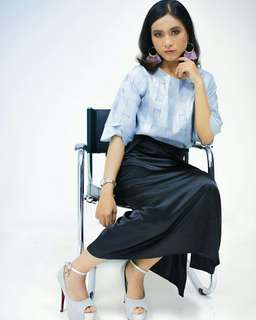 Anis silver blouse