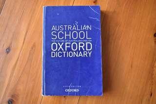 AUSTRALIAN SCHOOL OXFORD DICTIONARY
