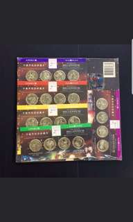 Singapore Millennium 20 piece coin set