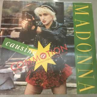 """Madonna – Causing A Commotion, 12"""" Single Vinyl, Sire – W 8224 T, 1987, UK"""