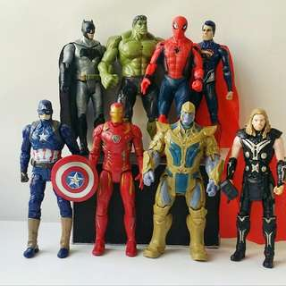 Avengers Infinity War And Justice League Action Figures Set
