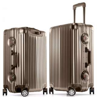 Aluminium Frame Luggage with Rounded Locker