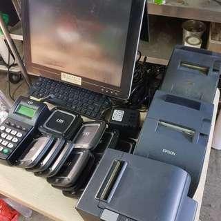 香港永富商用點餐機 🌝 全套主機包兩面MoN  無線取餐牌 三部打印機 機身新淨 售5000元