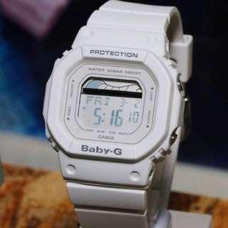 Authentic Brand New Casio Baby-G G-LIDE BLX-560-7 Retro White Ladies Sports Watch BLX560 BLX-560 BLX-560-7A BLX560-7 BLX560-7A BLX-560-7DR