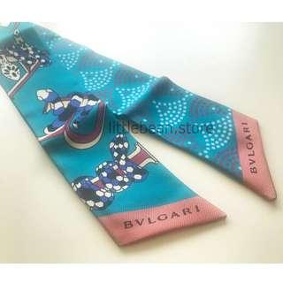 【Bvlgari】'Tie Me Signature' silk scarf 絲巾