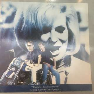 """Pet Shop Boys With Dusty Springfield – What Have I Done To Deserve This?, 12"""" Single Vinyl, Parlophone – K 060 20 2001 6, 1987, Europe"""