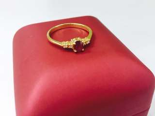18K YG ladies ring
