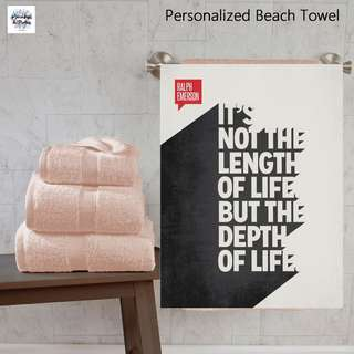 Inspiration Customize Custom Personalised Personalized Beach Towel