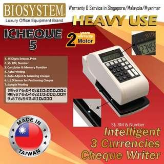 biosystem cheque writer icheque5