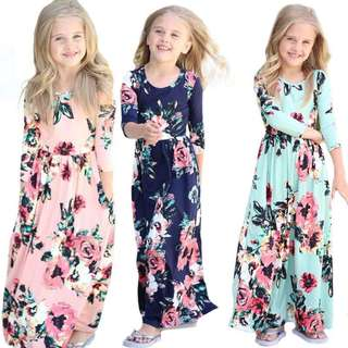 Floral Dress Maxi PO