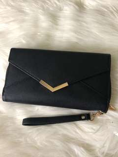 Black envelope purse/wallet