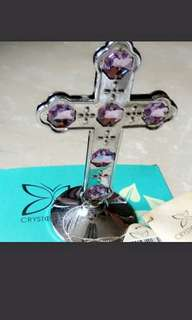 Crystocraft cross with Swarovski crystals