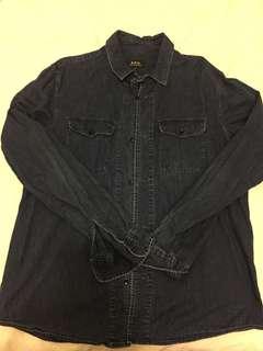 A.P.C. denim shirt size M