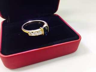 18K Blue Sapphire Men's ring