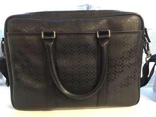 Authentic Coach monogram briefcase