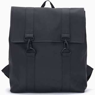 RAINS MSN Backpack Black