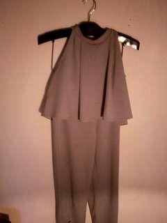 氣質灰套裝