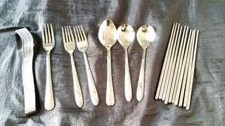 🚚 不鏽鋼筷子叉子湯匙