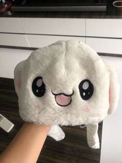 White Bunny Rabbit Hat with floppy Ears