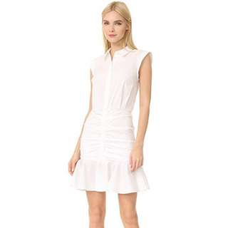 Veronica Beard Ruched Shirtdress White