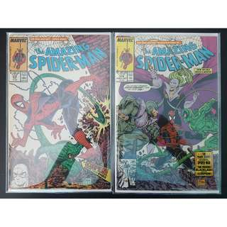 Amazing Spider-Man #318,#319 (1989, 1st Series) Set of 2, Todd McFarlane's Awesomeness! SCORPION!RHINO!Free-For-All Battle Royale!