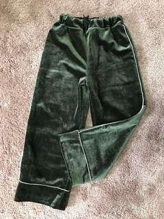 Velvet Bold Lines Pants