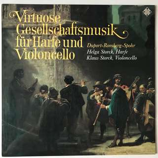 Virtuoso Music for Harp & Cello Helga & Klaus Storck TELEFUNKEN