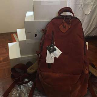 Visvim Lamina 20L Kudu Red Dirt