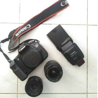 -Canon EOS 60D -Canon Lens 18-55mm -Canon Lens 50mm -YongNuo Flash Light YN560