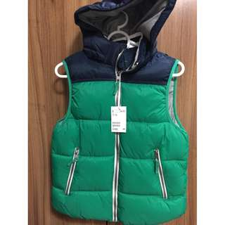 H&M bubble jacket hoodie sleeveless boys kids womens vest BNWT S 152