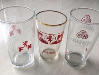 F&N set of 3 glasses