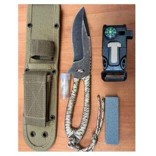 Camping Survival Knife Fishing Tools Set  野外求生刀钓鱼工具套装#288