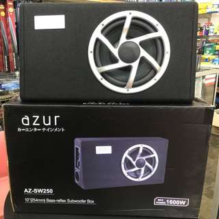 AZUR 10'' Bass-Reflex Subwoofer Box (1600w)Japan