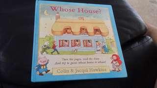 Whose house? - pop up book